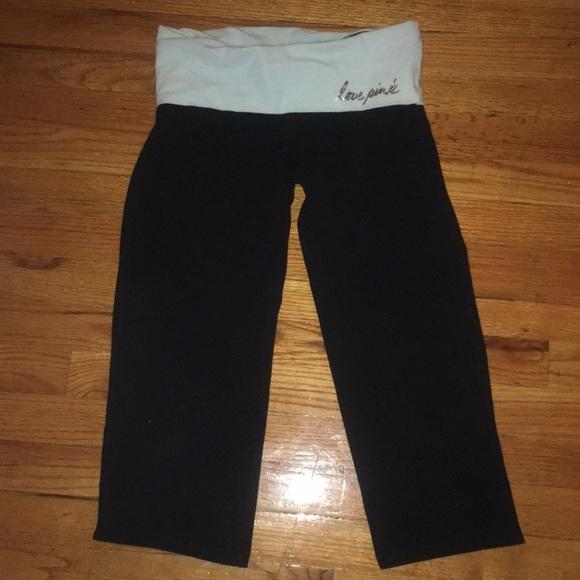 56fe5286a05bd7 PINK Victoria's Secret Pants | Vs Pink Foldover Cropped Yoga ...